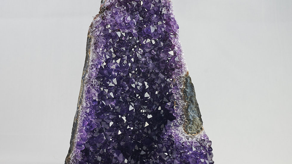 Uruguayan Amethyst Crystal Cluster Cathedral Geode (Raw) A00003