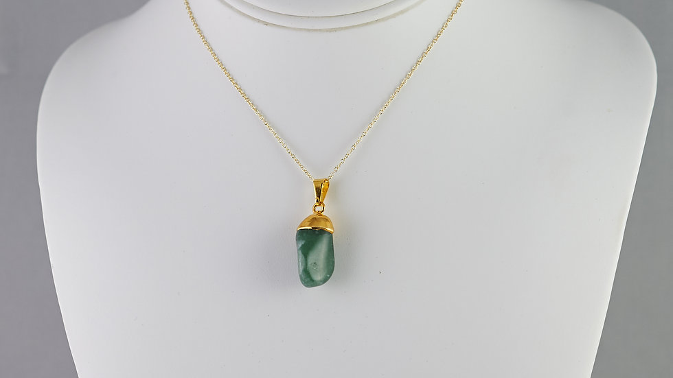 Tumbled Green Quartz Pendant GJP00039