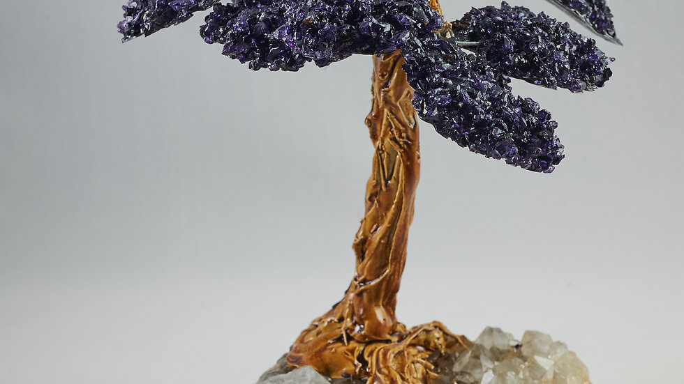 Feng Shui Natural Healing Gemstone Crystal Bonsai Tree ABT00007