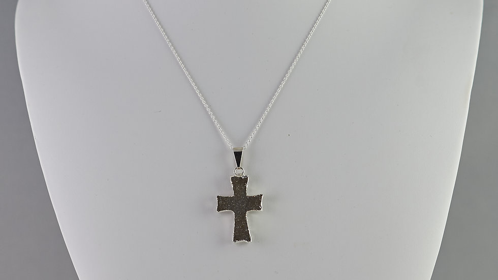Druzy Cross Pendant SJP00046