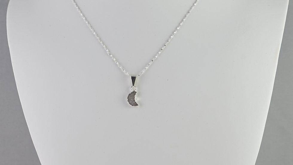 Druzy Moon Pendant (Tiny)   SJP00003