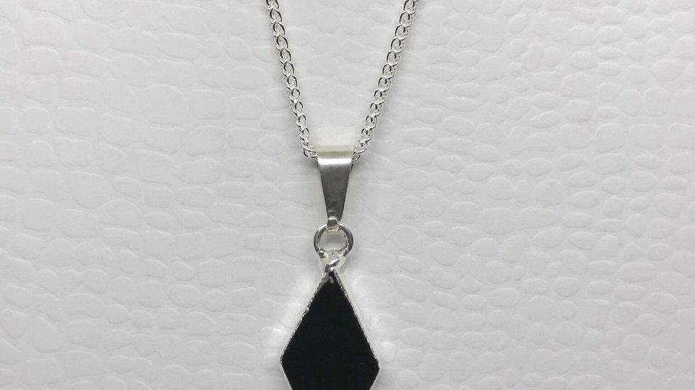 Agate Black Diamond Pendant SJP00021