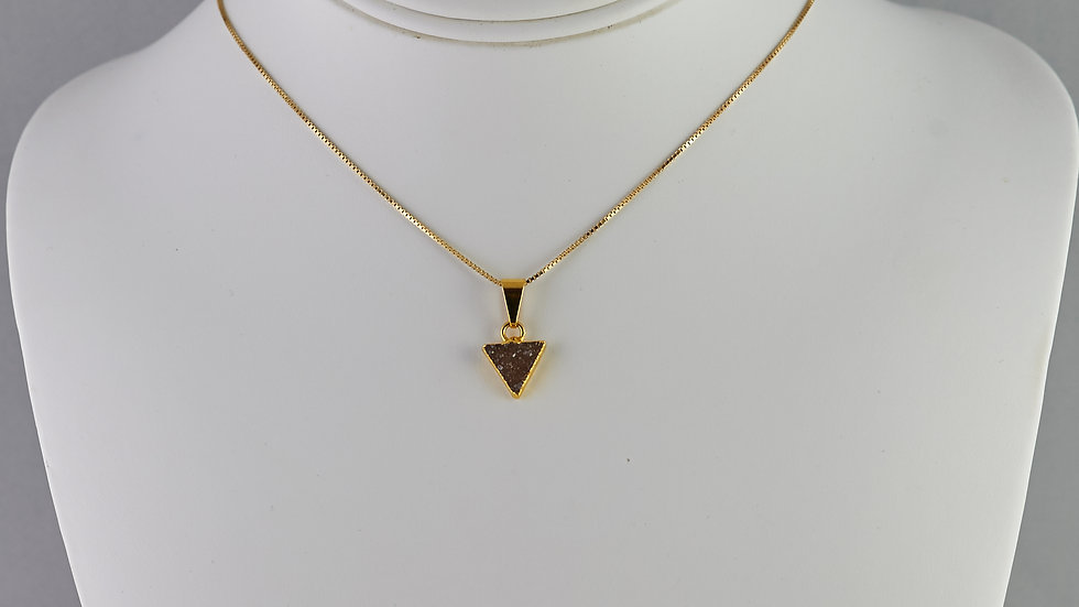 Druzy Triangle Pendant (SM) GJP00064