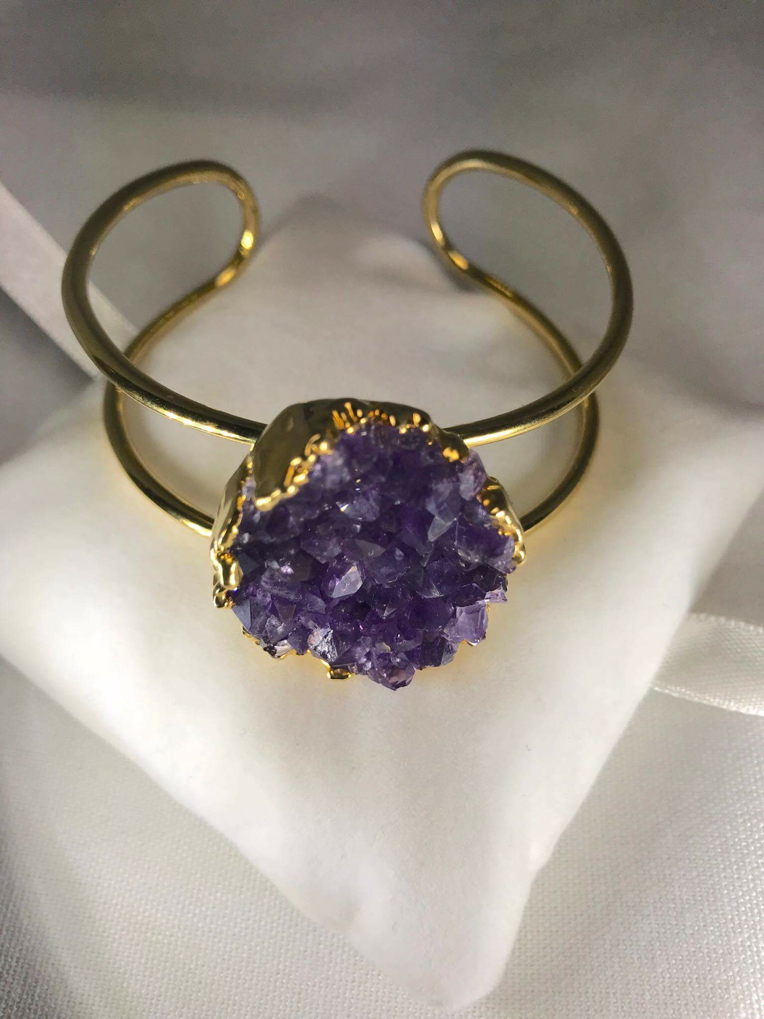 Amethyst Natural Stone Bangle (Adjustable) .png GJB00010_1