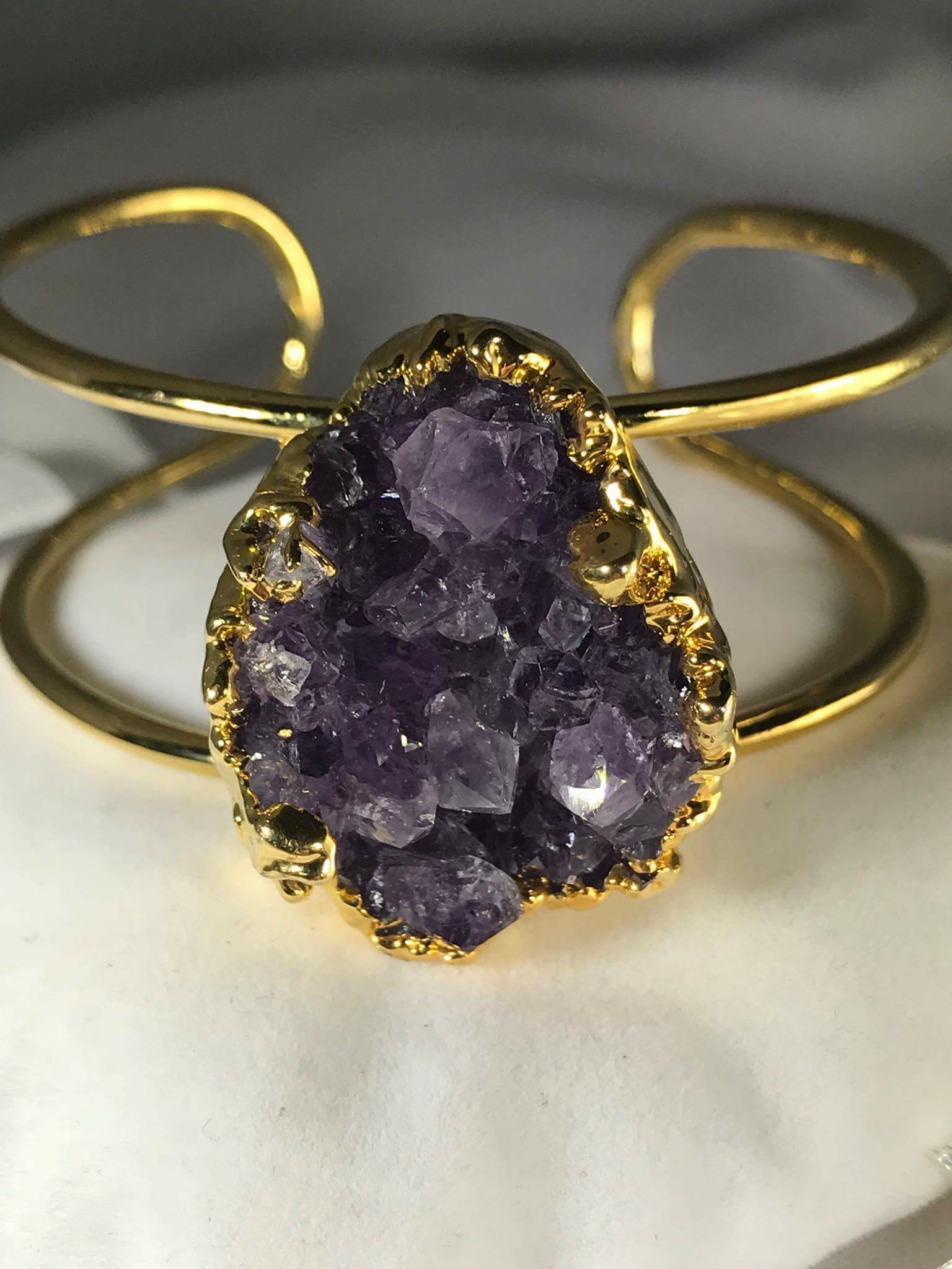Amethyst Natural Stone Bangle (Adjustabe) .png GJB00009_1