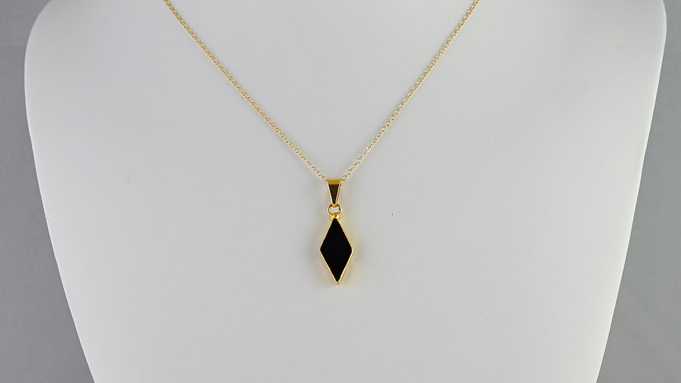 Agate Black Diamond Pendant GJP00020