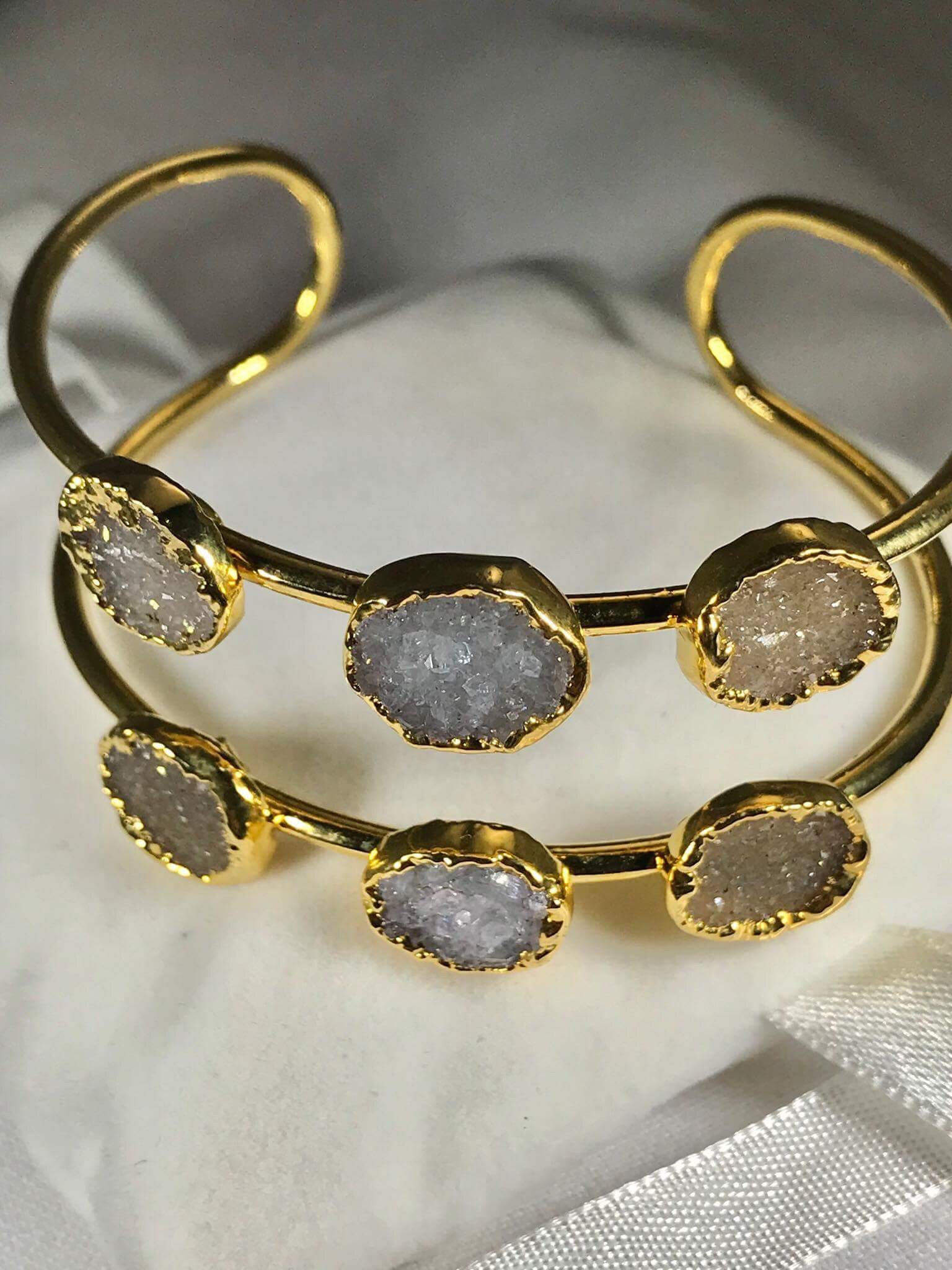 Druzy Multi-Stone Bangle (Adjustable) GJB00015_1