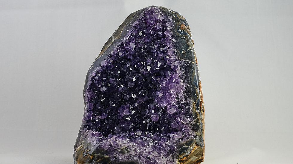 Amethyst Crystal Cluster (Polished Edges) A00007
