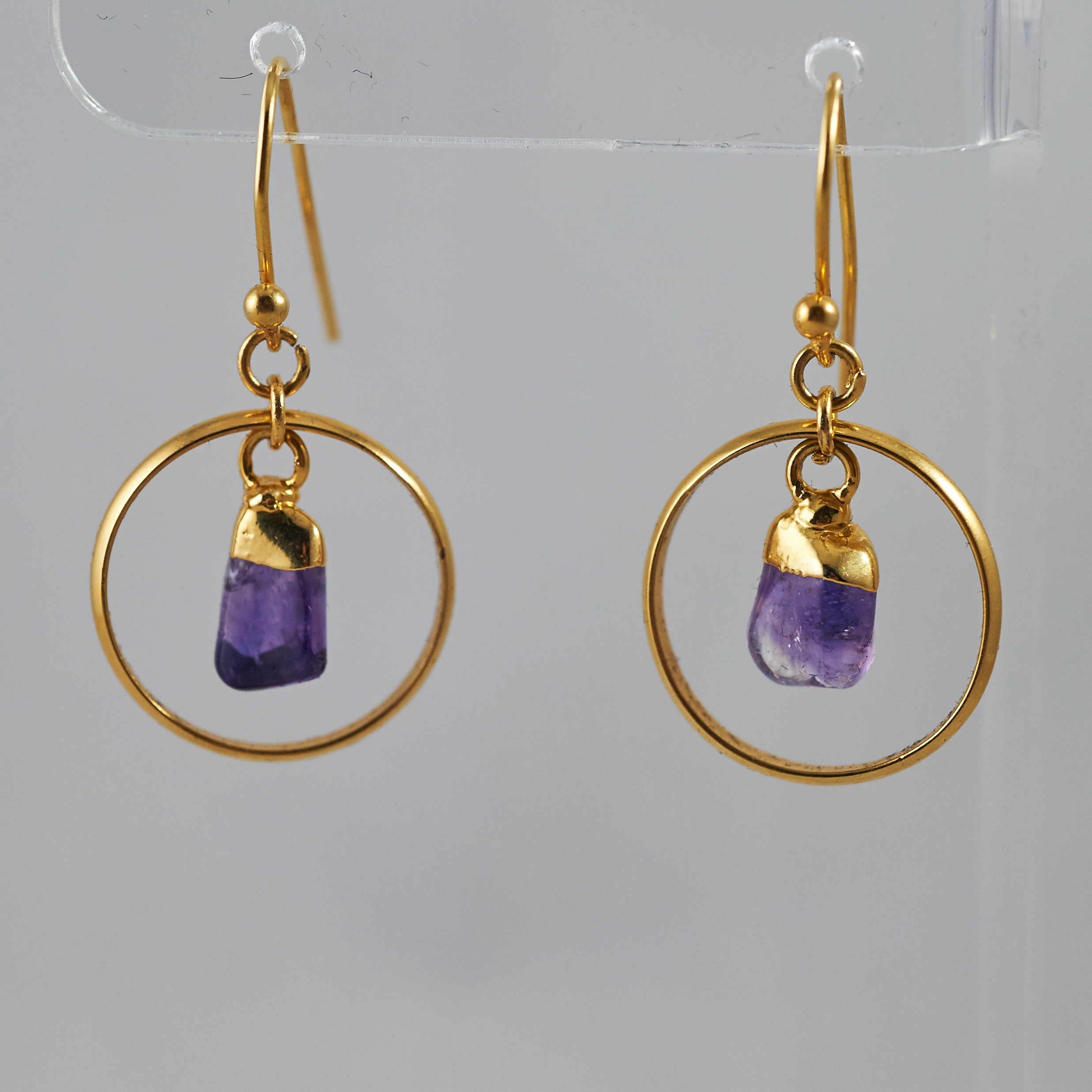 Amethyst Polished Points Darling Earrings .jpg GJE00007