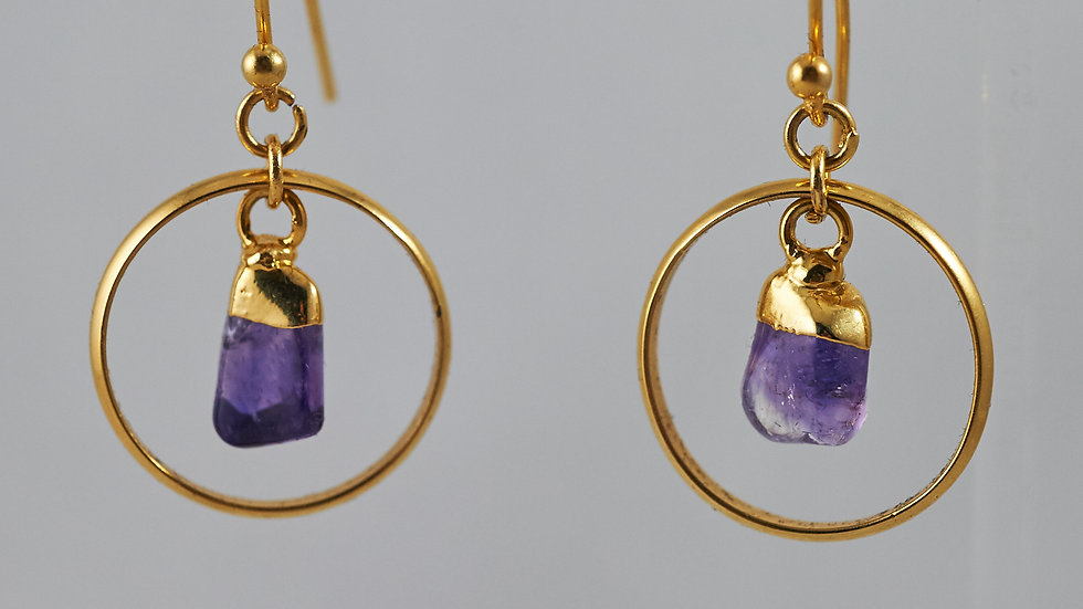Amethyst Polished Points Darling Earrings GJE00007