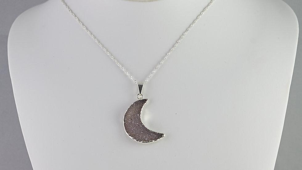 Druzy Moon Pendant (L) SJP00007
