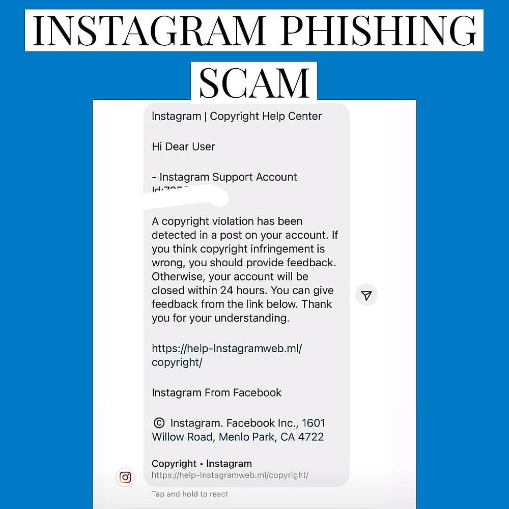 Instagram Phishing Scam