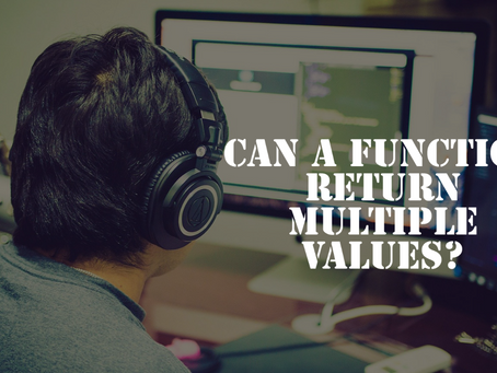 Can a function return multiple values?