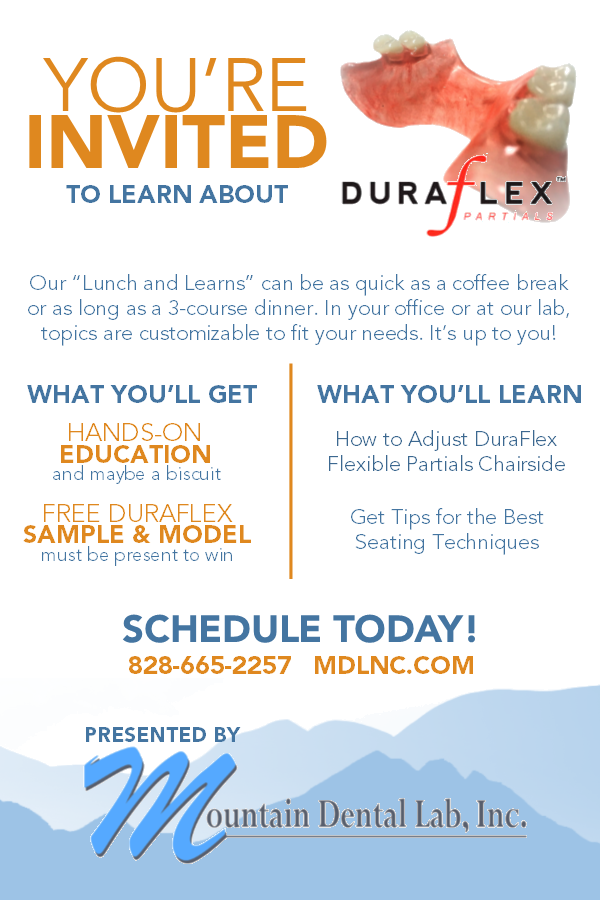 Mountan Dental Lab offers Education Sessions, or Lunch and Learns customized to fit your needs!