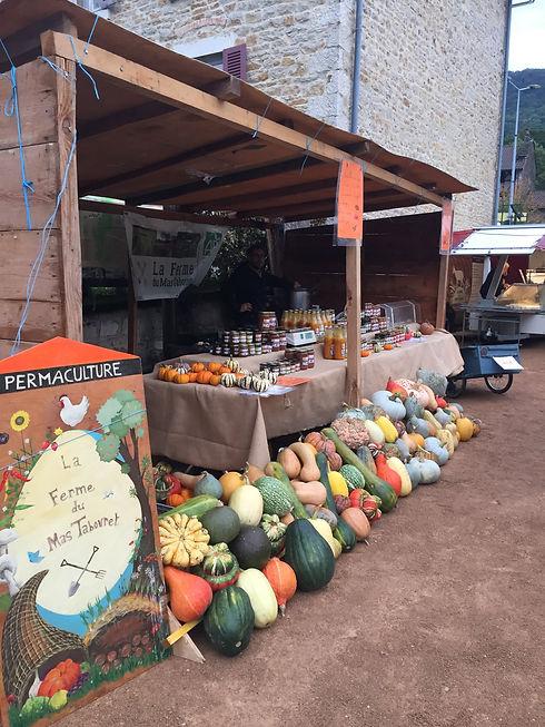 Marché des fruits d'automne