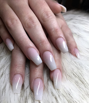 OMBRE PINK & WHITE