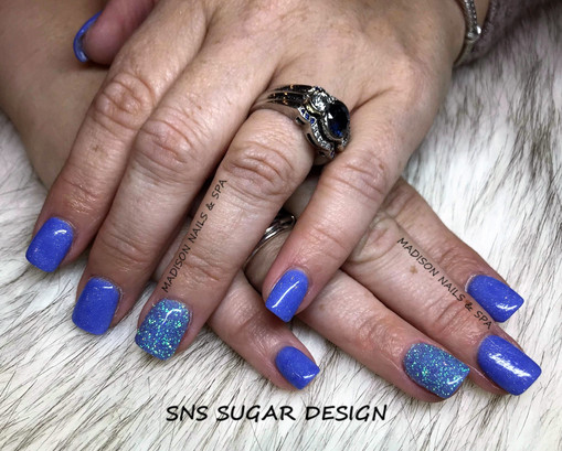 SNS Powder with Glitter Design