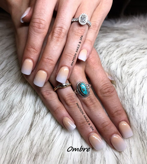 Ombre Nude and White