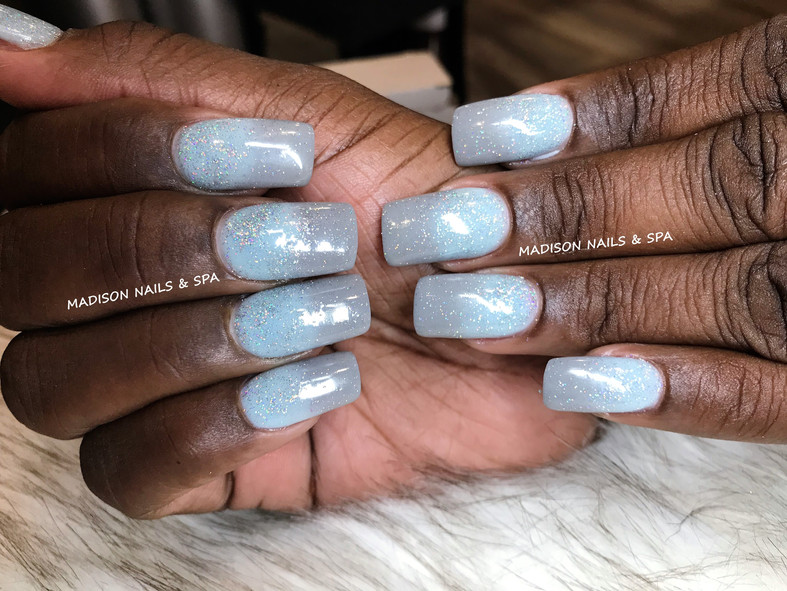 Ombre Blue & Gray