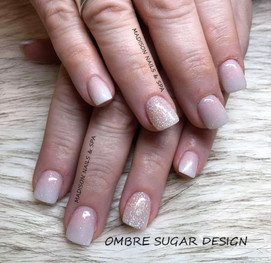 Ombre with Sugar Design