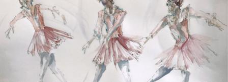 Colour prep sketches for Ballet daner