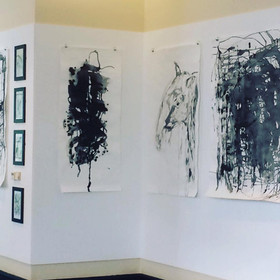 Large scale ink work