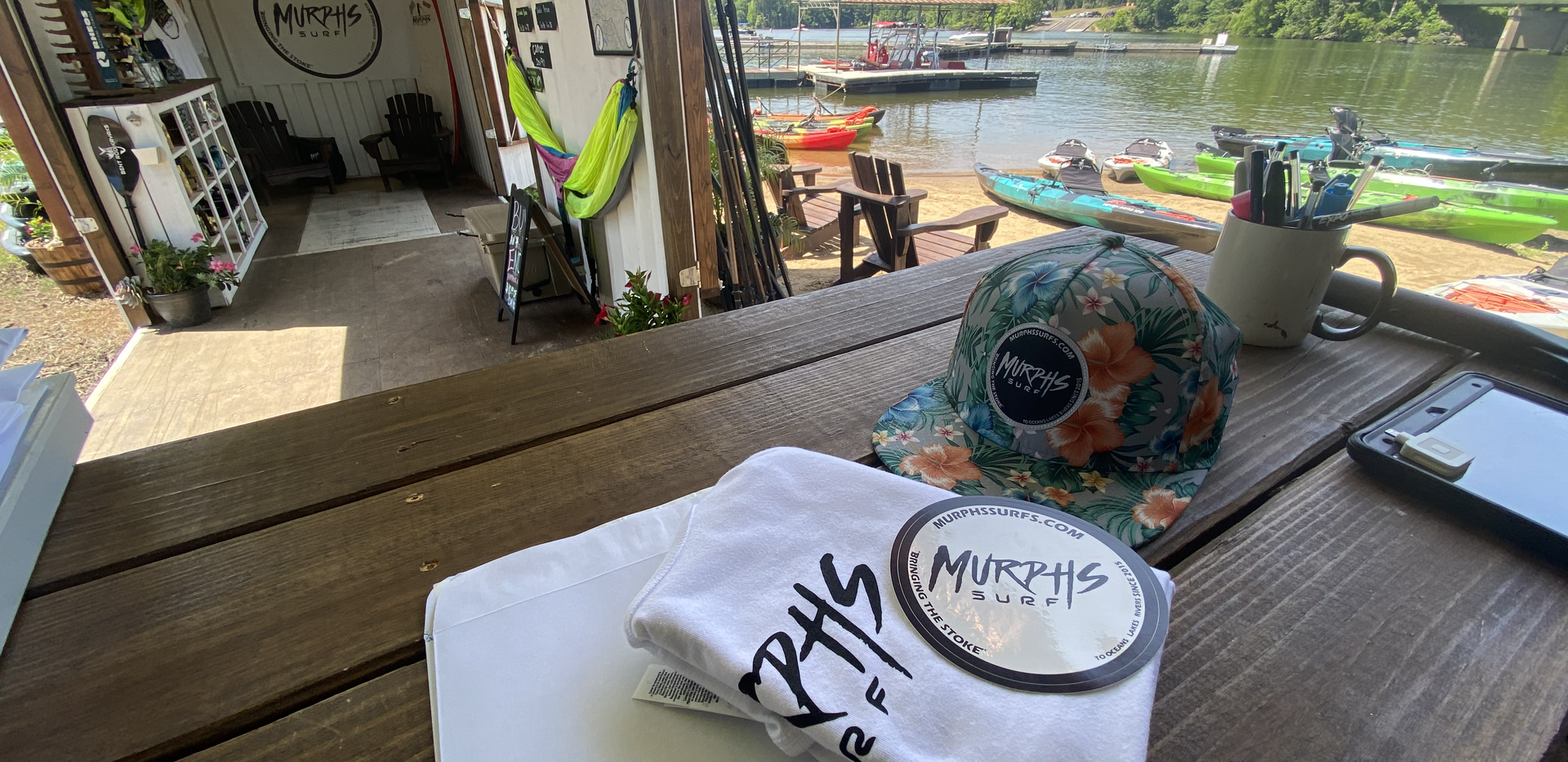 Hats, shirts, stickers and great places to paddle!!