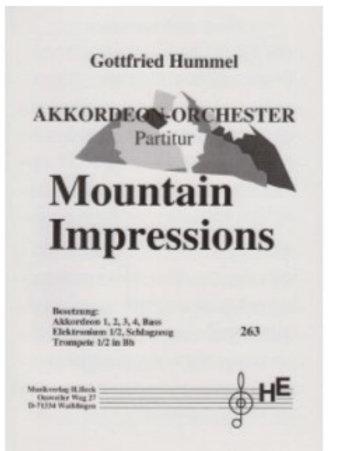 Mountain Impressions Partitur