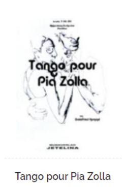 Tango pour Pia Zolla Partitur