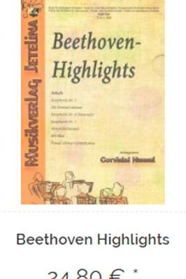 Beethoven Highlights - Direkt beim Verlag