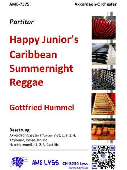 Happy Junior's Caribbean Summernight Reggae  Partitur