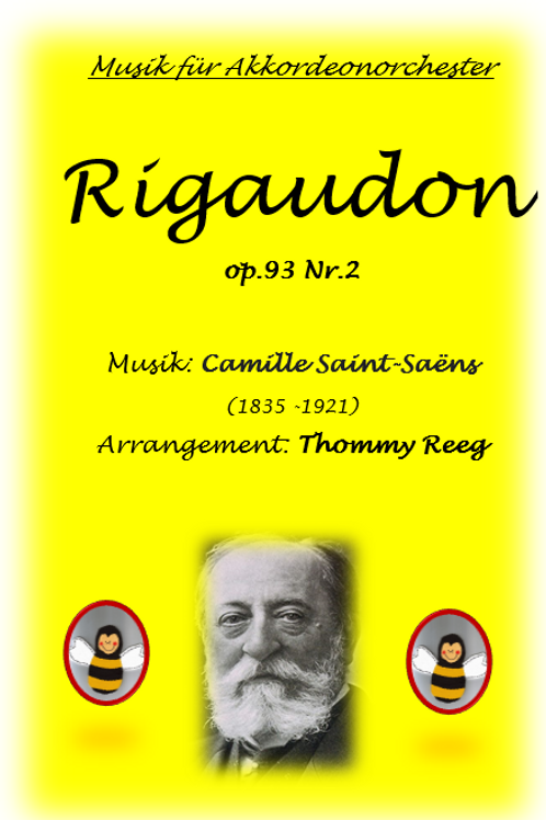 Rigaudon von Camille Saint Saens Partitur