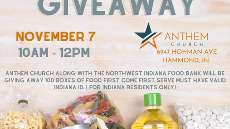 FOOD GIVEAWAY SATURDAY, NOV 7TH