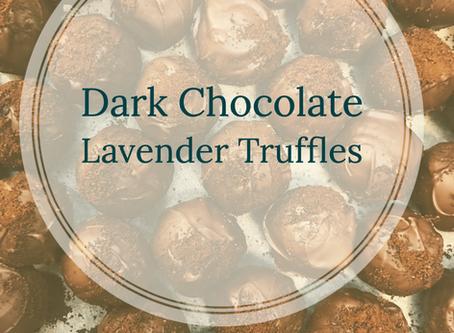 Dark Chocolate Lavender Truffles