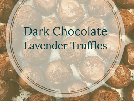 Dark Chocolate Lavender Truffles