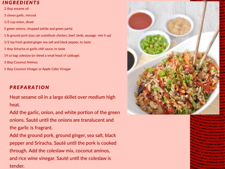 Low Carb Cabbage Stir Fry