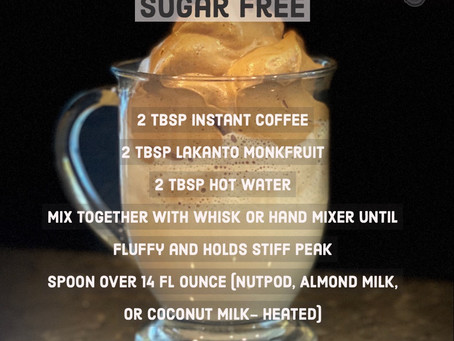 Dalgona Coffee- Sugar Free