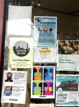 covid mask signage - point arena market.
