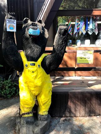 Masks sign - Redwood river resort - conf