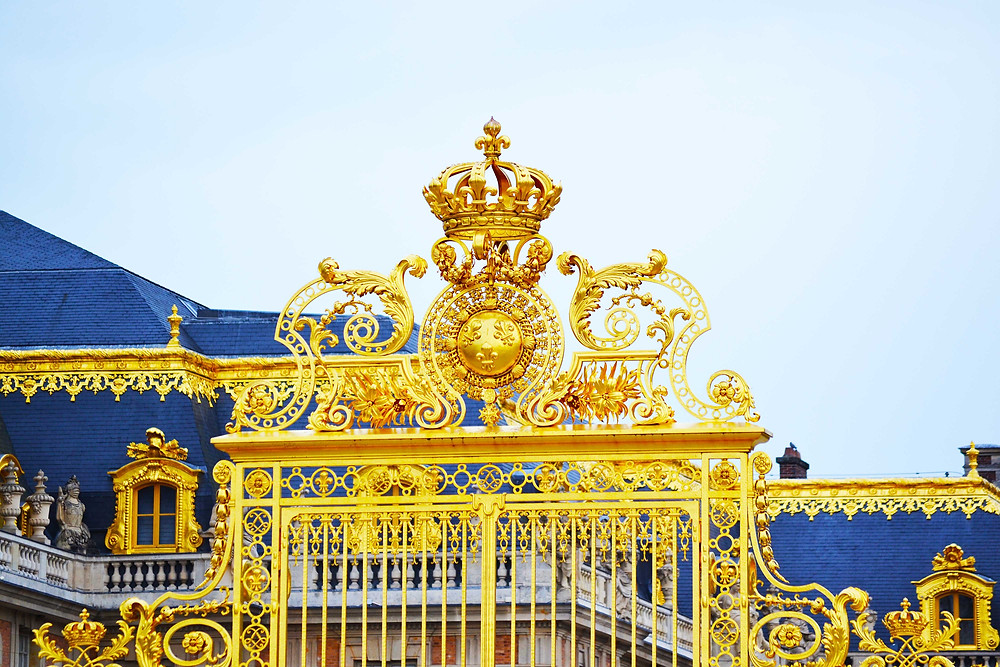 Entrance gates into versailles