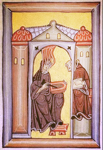 Hildegard von Bingen under Divine Inspiration. Source: google