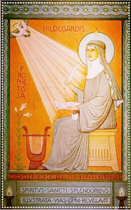 Hildegard von Bingen also known as the Sybil of Germany. Source: Pintrest