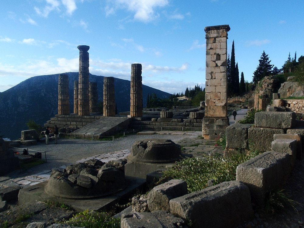 Delphi - looking towards the Apollo Temple where the oracle sat