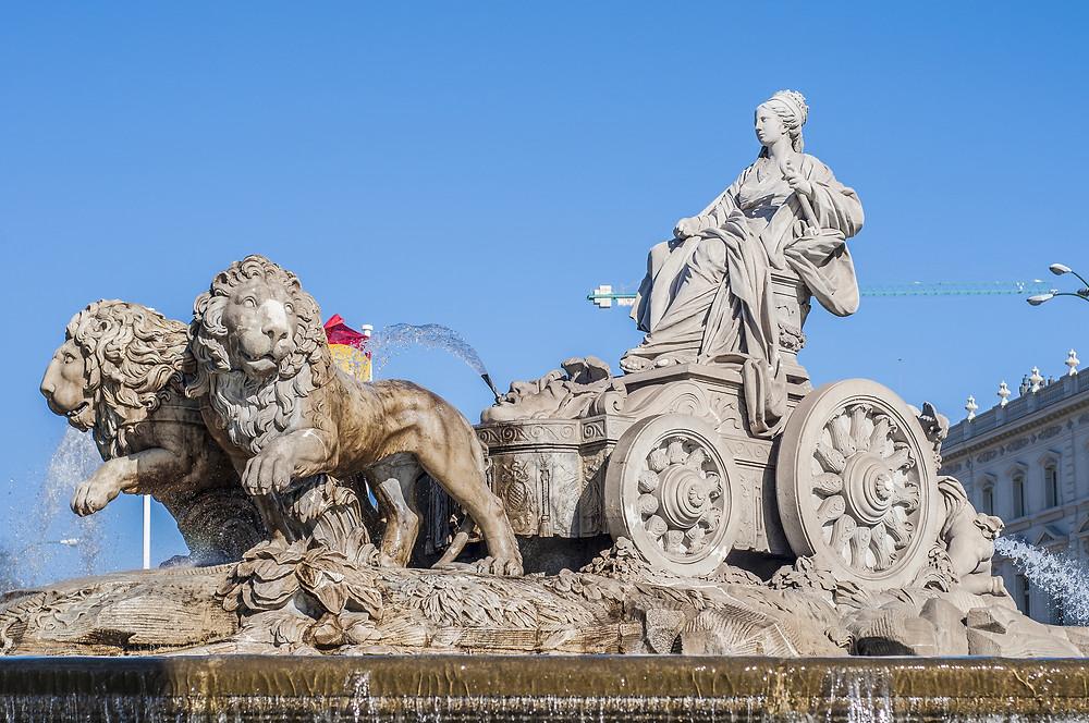 Cybele; Mother of Gods in Madrid. Shutterstock