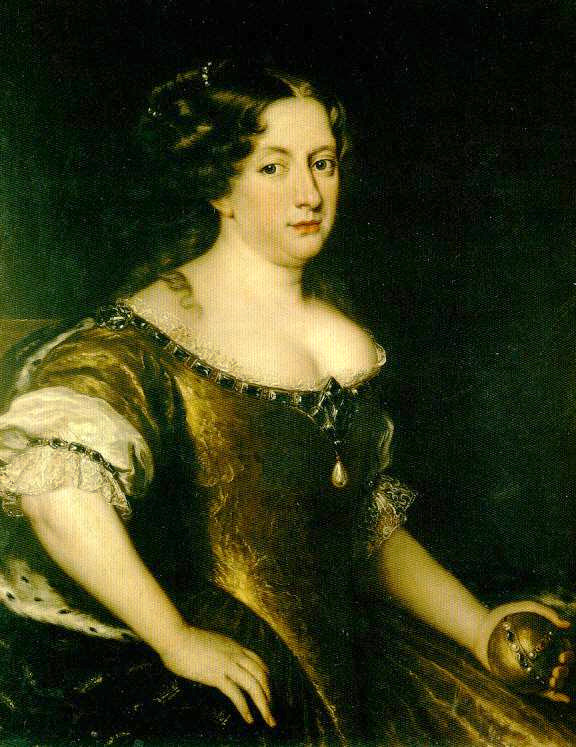 Queen Christina of Sweden. Painting; the Uffizi Gallery in Florence, but is not on display