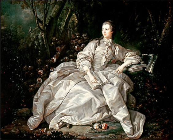 Madame de Pompadour painted by Francois Boucher (around 1758)
