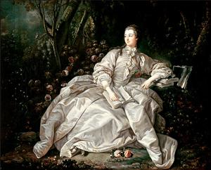 Madame de Pompadour painted by Francois Boucher (around 1758)