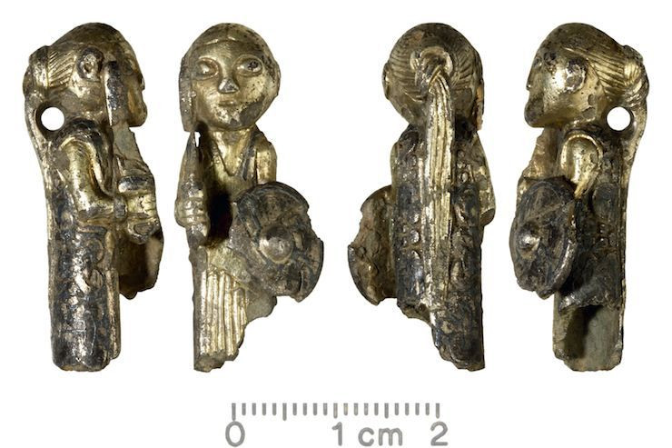 Silver Shildmaiden found in Denmark. Photo © Odense Museum