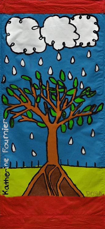 Tree with Rain Drops