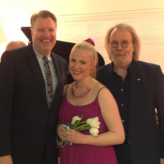 With Jeffrey DeHart and Benny Andersson (ABBA)